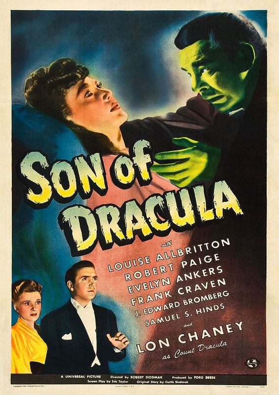 50 Son Of Dracula Horror Poster Repro Vintage Print A3 Poster