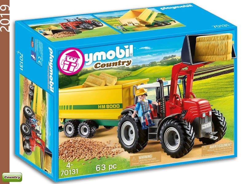 Playmobil 70131 Tractor Trailer Supply Playmobil Tractor Trailers Tractors