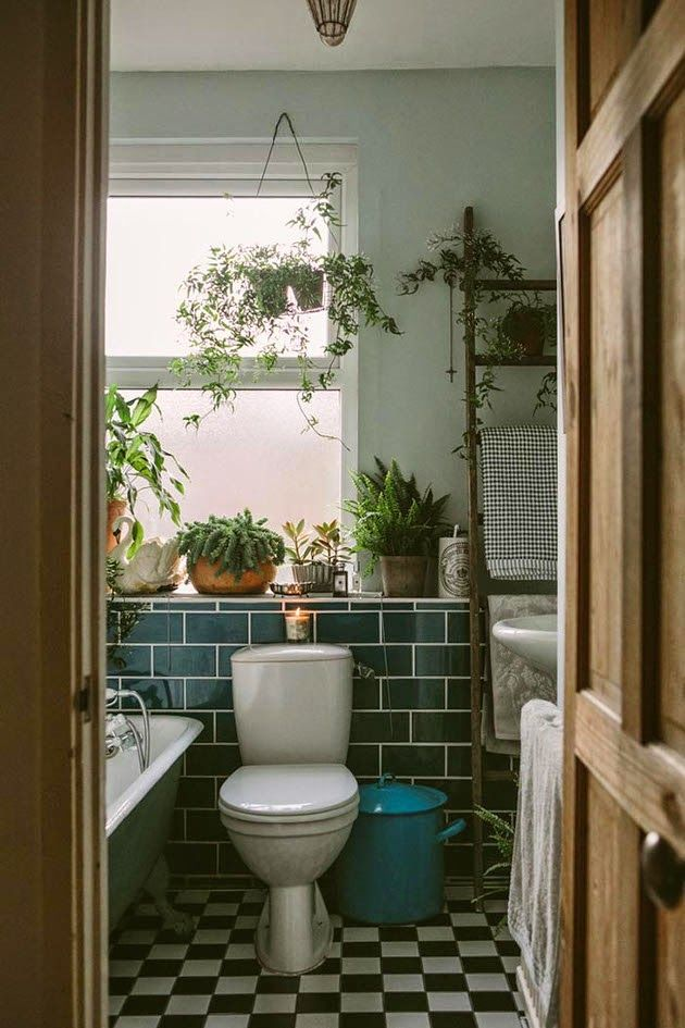 Design is mine isn   it lovely space anna potter  home vintage antique flora colors urban jungle bathroom plants also rh pinterest