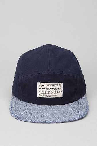 OBEY Munition 5-Panel Hat  obey  hat  urbanoutfitters  60c74cf4a9c