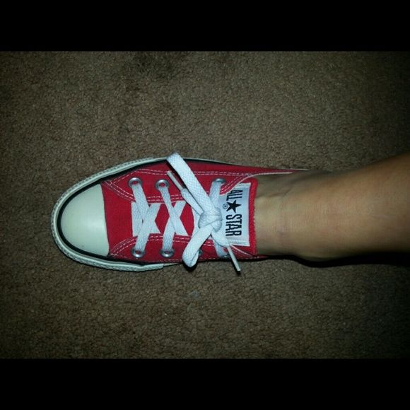 Red converse, Converse shoes