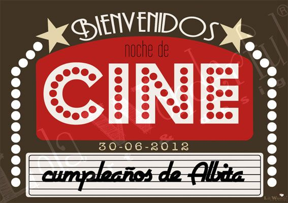 Lola Wonderful_Blog Diseños personalizados fiestas Cumple de - movie invitation template free