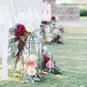 42 Favorite Fall Wedding Aisle Decor Ideas