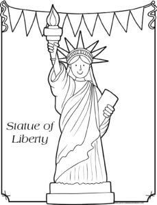 statue of liberty free printable 4th of july coloring pages in 2020  disney princess coloring