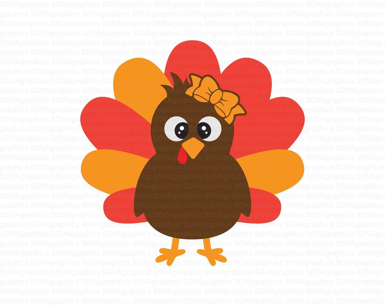 Turkey Svg Girl Turkey Svg Thanksgiving Svg Little Turkey Etsy In 2020 Print Images Svg Online Fonts
