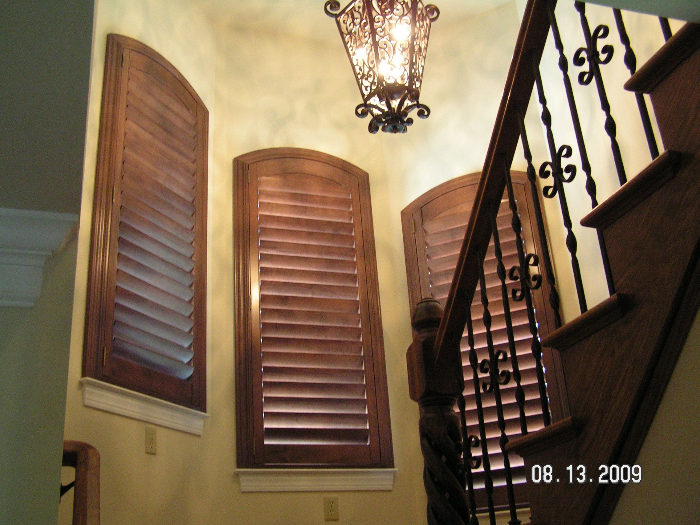 Specialty shapes are NOT a problem with shutters! Window