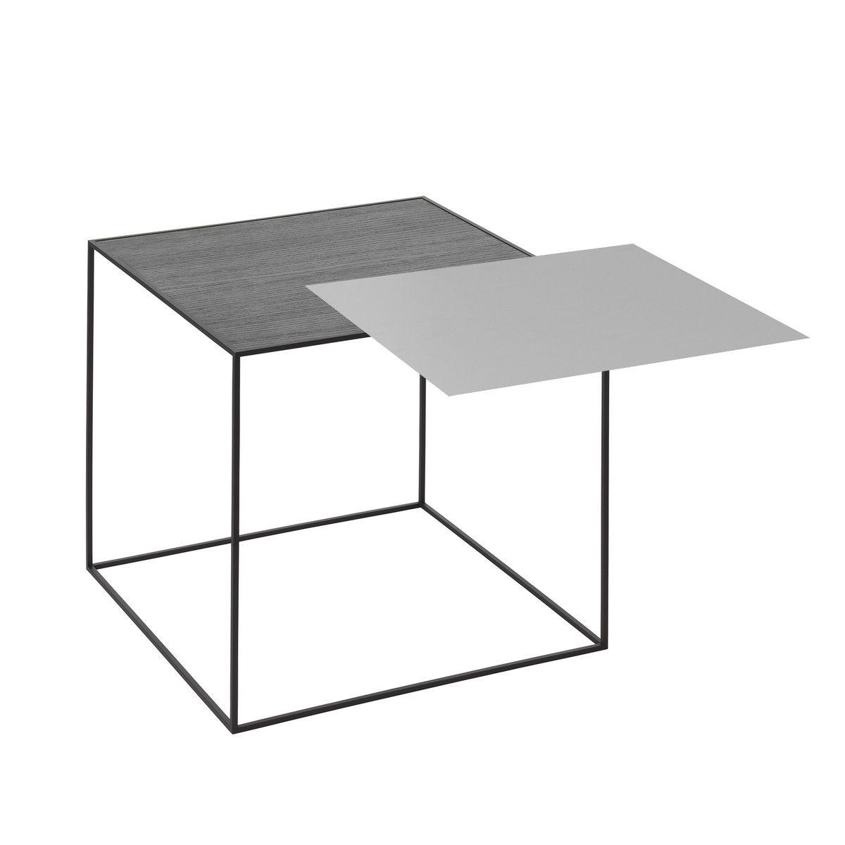 by Lassen - Twin 42 Beistelltisch, schwarzer Rahmen, schwarze Esche ...