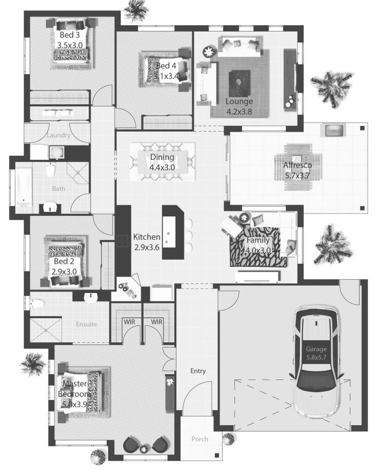 stunning new single floor house plans. A stunning new home design by award winning builder Pycon  This 4 bedroom with facade options and flexible floor plan is sure to impress Tasman Stunning New Home Design from Floor Plans
