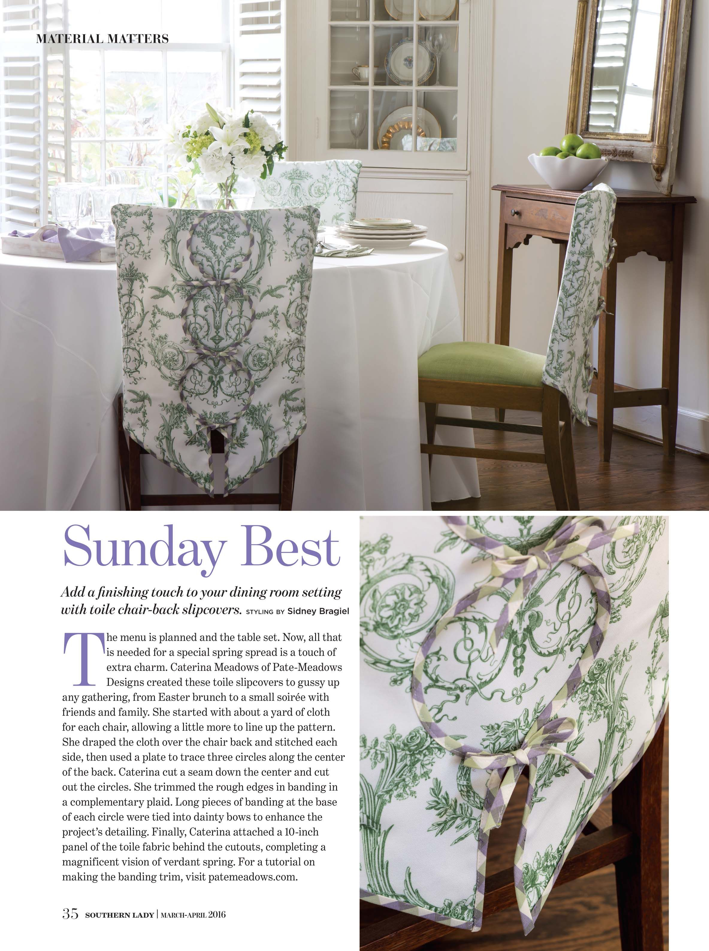 Capetian Toile Fabric In Basil Green Designed By Lilyoake