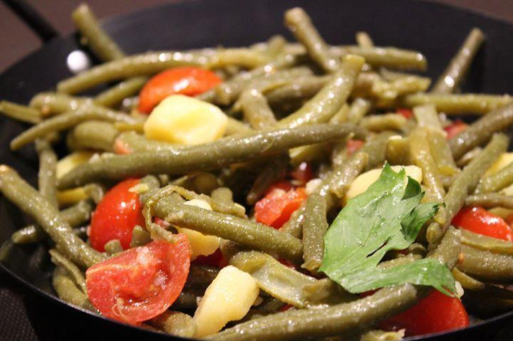 insalata di fagiolini pomodori e patate
