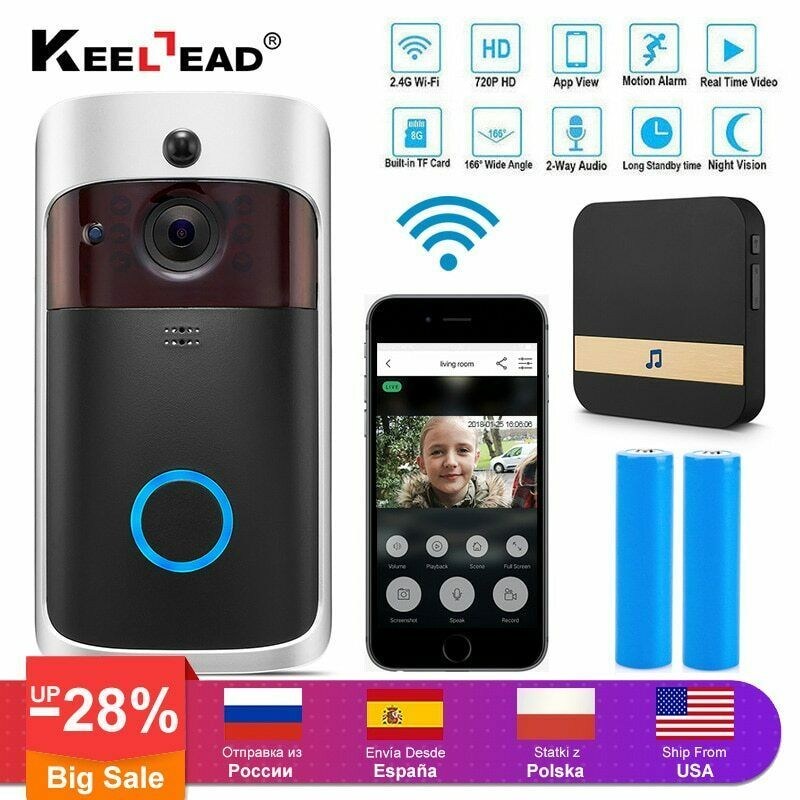 Wifi Doorbell Camera Wireless With Chime Monitor