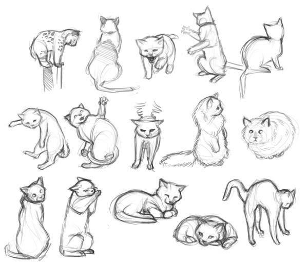 Cats חיפוש ב Google Drawings Art Katzenzeichnung Katzen