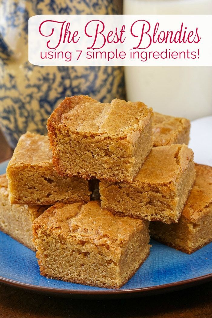 The Best Blondies Recipe in only 7 ingredients  Rock Recipes The Best Blondies Dense but soft with crispy edges and a chewy centre these are the perfect blondies with an...