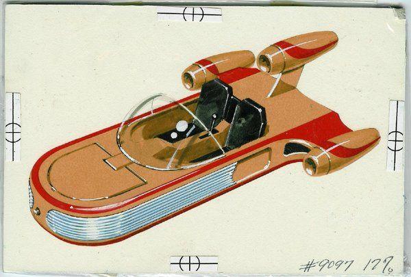 Kenner original 12-back drawing of the #Landspeeder