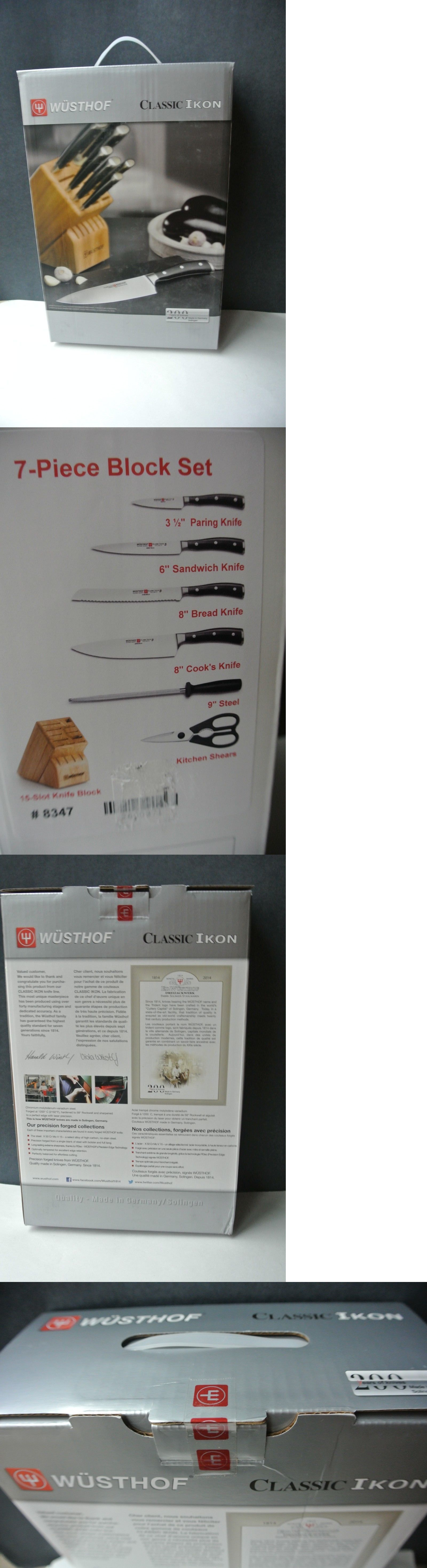 kitchen and steak knives 177005 new in box wusthof classic ikon 7 kitchen and steak knives 177005 new in box wusthof classic ikon 7 piece knife block