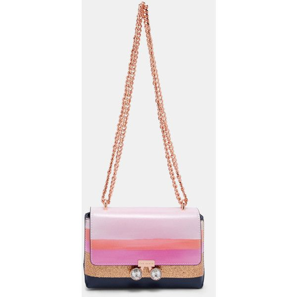 689a4898194c64 Ted Baker Marina Mosaic crystal bobble cross body bag ( 160) ❤ liked on  Polyvore