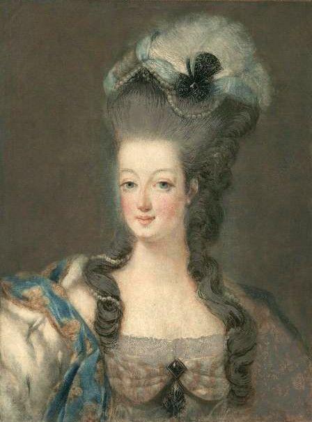 La Coiffure Au Temps De Marie Antoinette 6 Le Blog De Cameline Portrait De Mariee Marie Antoinette Illustration Francaise