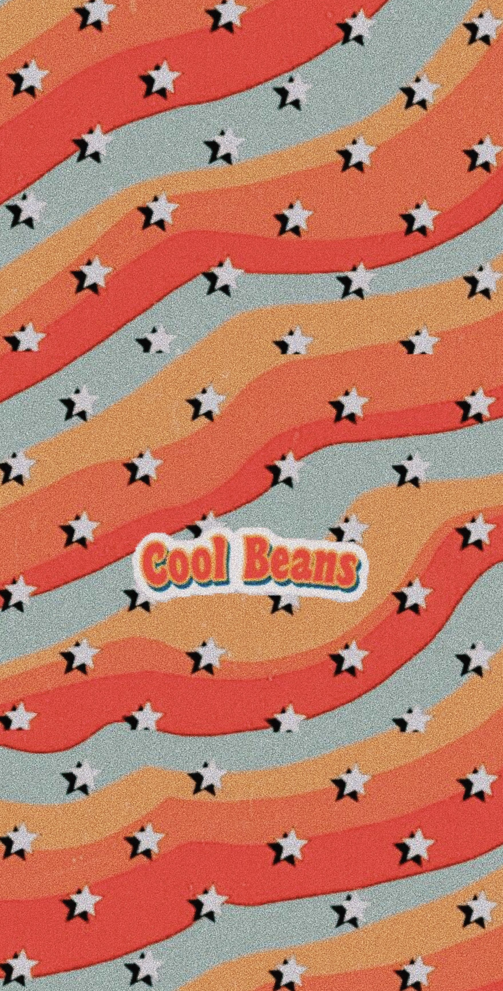 Wallpaper Red Orange Yellow Blue Cool Beans Aesthetic