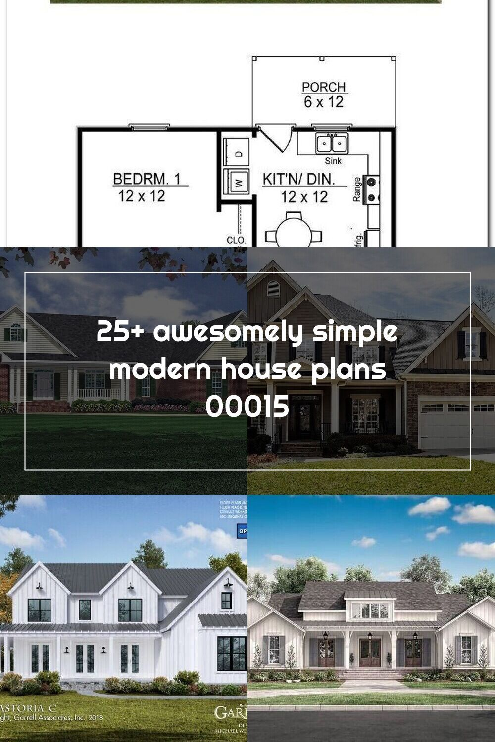 25 Awesomely Simple Modern House Plans 00015 Modern House Plans Traditional House Plans Modern House