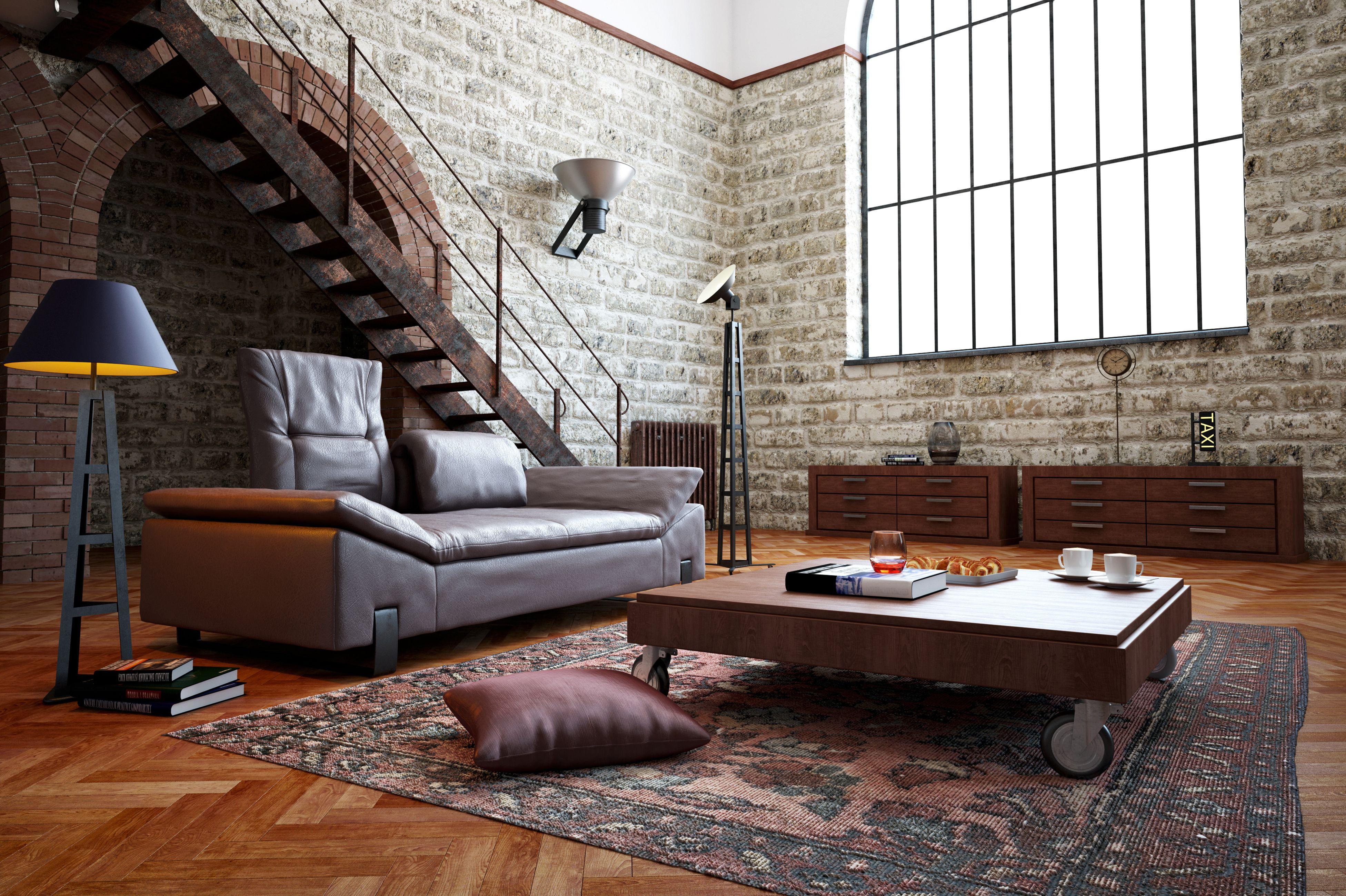 Interieur Mit Rustikalen Akzenten Loft Design Bilder: Schwarzen Akzenten