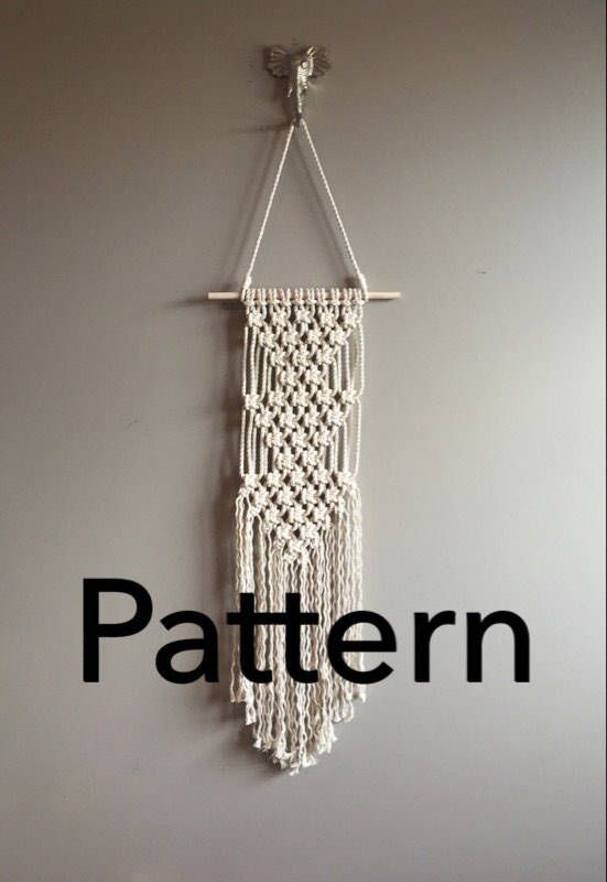 Triple Artemis Macrame Pattern Beginner Pdf Diy Wall Hanging