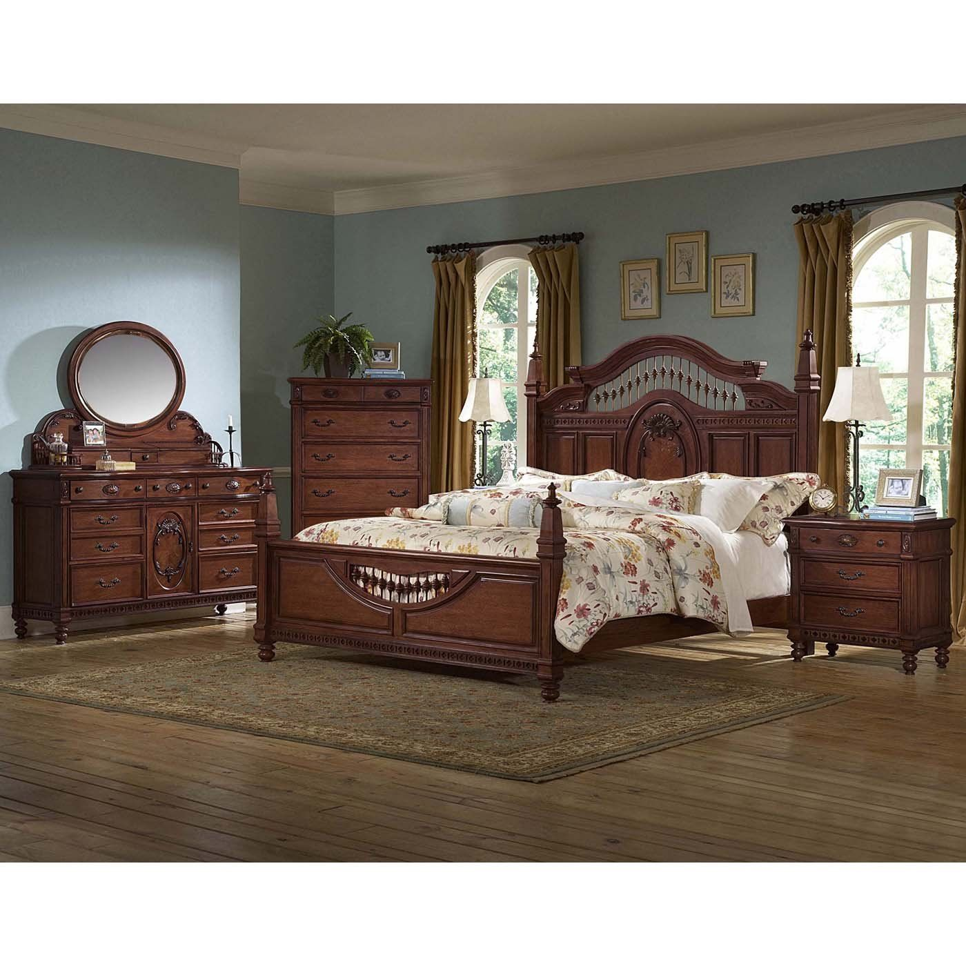 Vaughan Furniture 427 7pc Kathy Ireland Southern Heritage Seven Piece Bedroom Set Bedroom Set Furniture Bedroom Sets