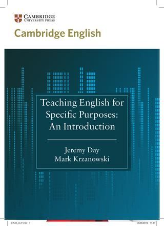 Teaching ESP An Introduction by Jeremy Day and March Krzanowski - needs analysis