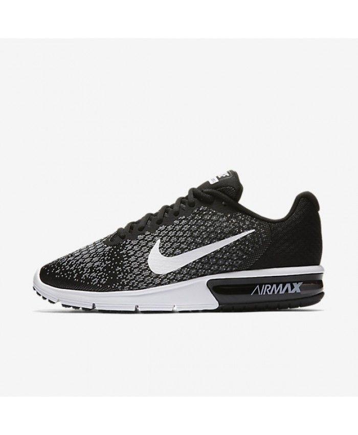 pretty nice ad458 73591 Nike Air Max Sequent 2 Black Dark Grey Wolf Grey White 852461-005