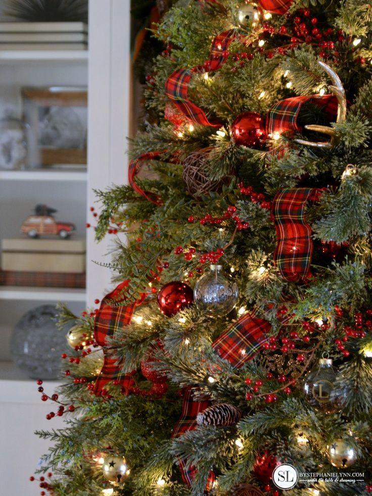 classic red tartan plaid christmas tree michaelsmakers - Tartan Plaid Christmas Decor