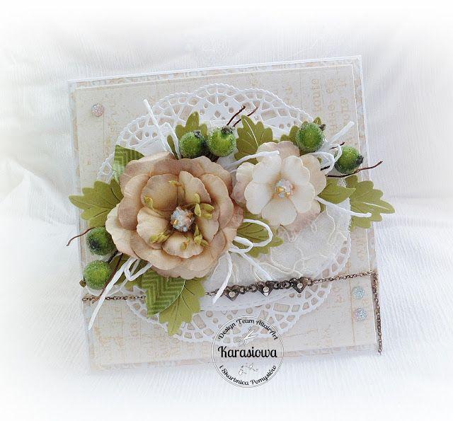Pastel Card With Flowers Dt Treasury Ideas Kartki Pinterest