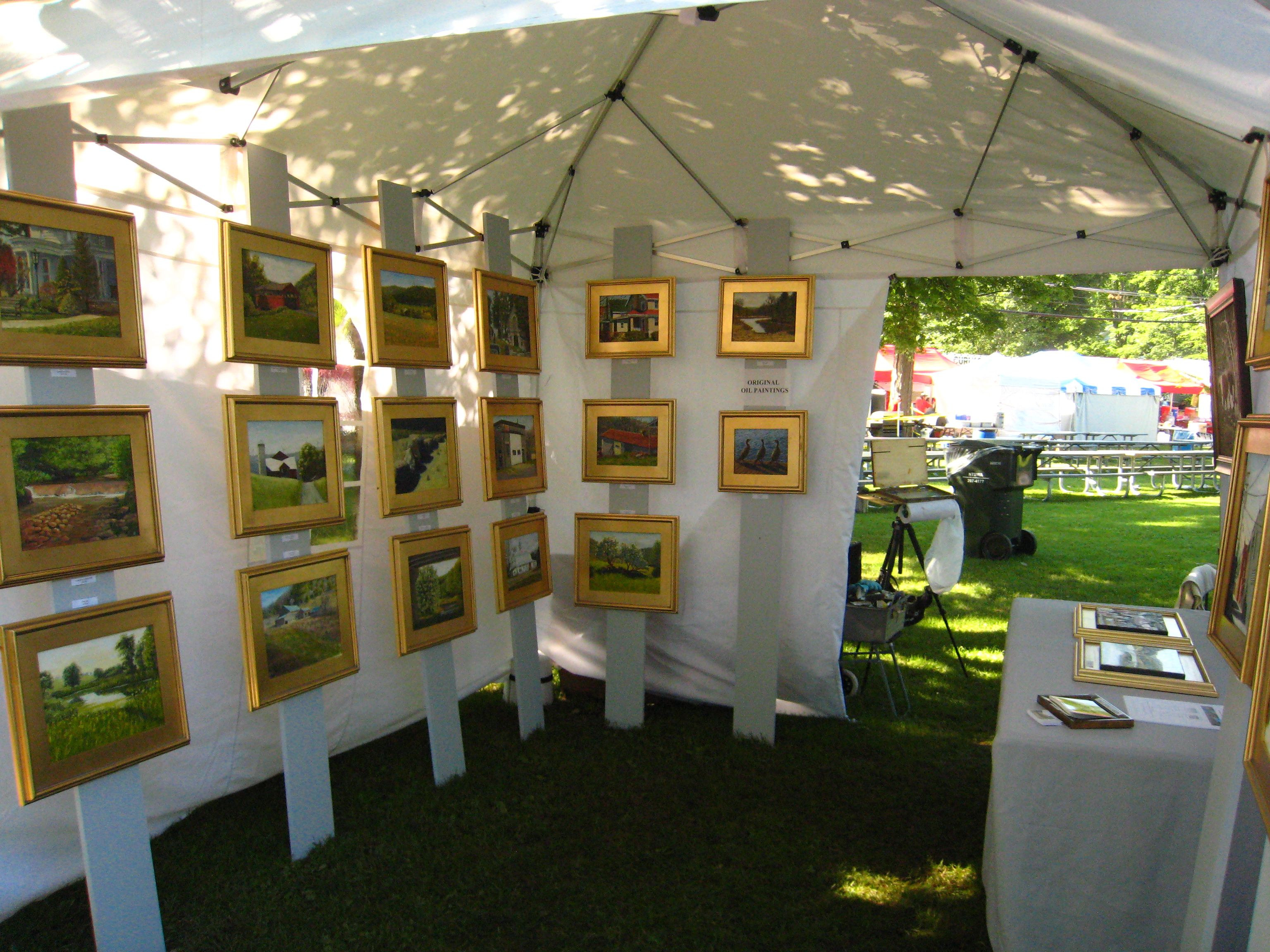 superb Art Festival Booth Display Ideas Part - 7: Wooden pieces for framed work Display Ideas, Booth Ideas, Craft Booth  Displays, Craft
