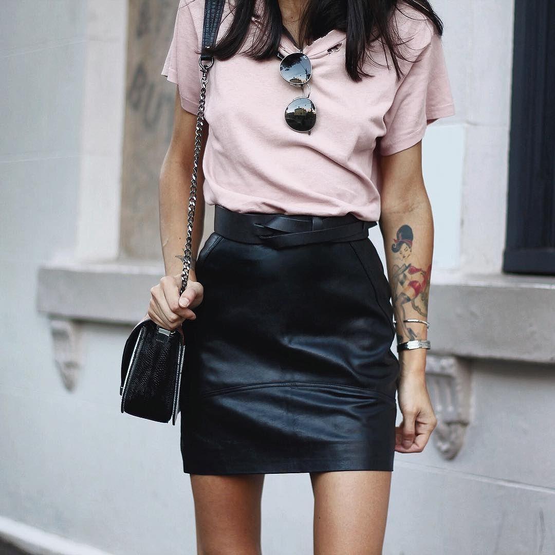 Mini leather skirt tumblr photos