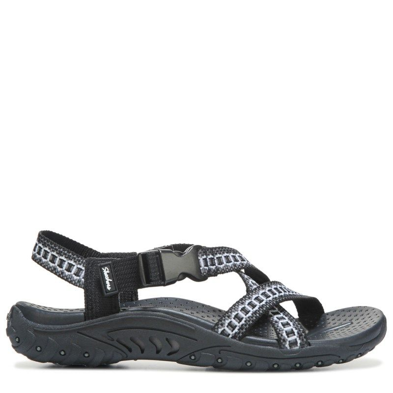 6122e7cdf888 Skechers Women s Reggae Kooky Sandals (Black Grey) - 11.0 M