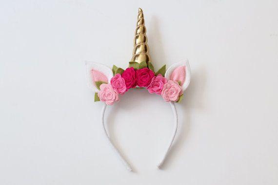 Horn Haarreif Einhorn Stirnband Unicorn Haarschmuck Kopfband Kopfschmuck mit