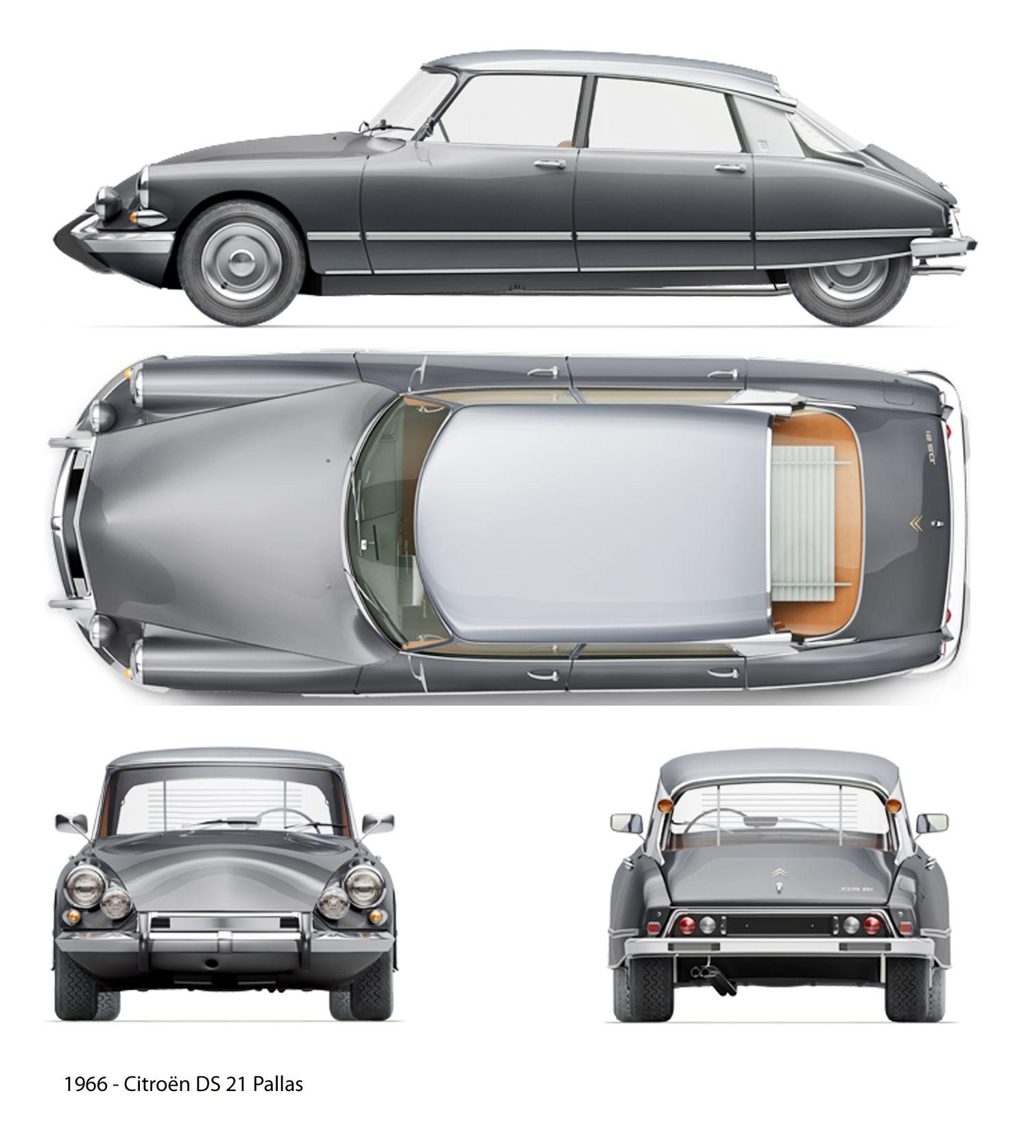 Citroën DS 21 Pallas (1966) | SMCars.Net - Car Blueprints Forum ...