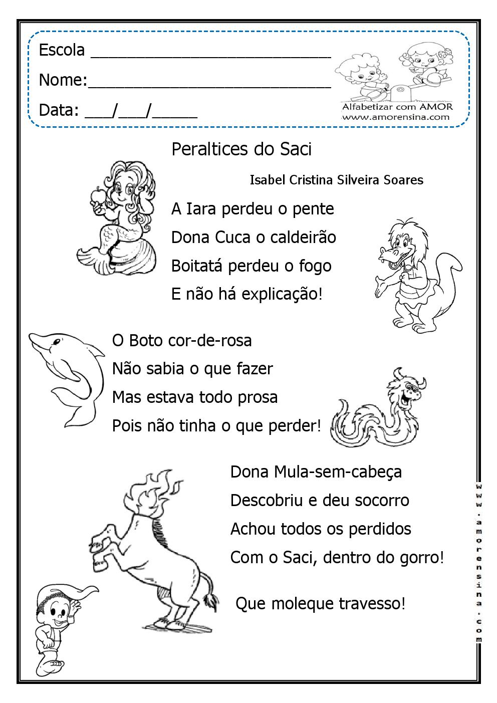 Favoritos Alfabetizar com AMOR: FOLCLORE- ATIVIDADES INTERDISCIPLINARES  XH88