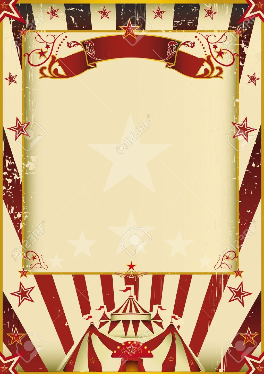 A New Background Vintage Textured On Circus Theme Enjoy