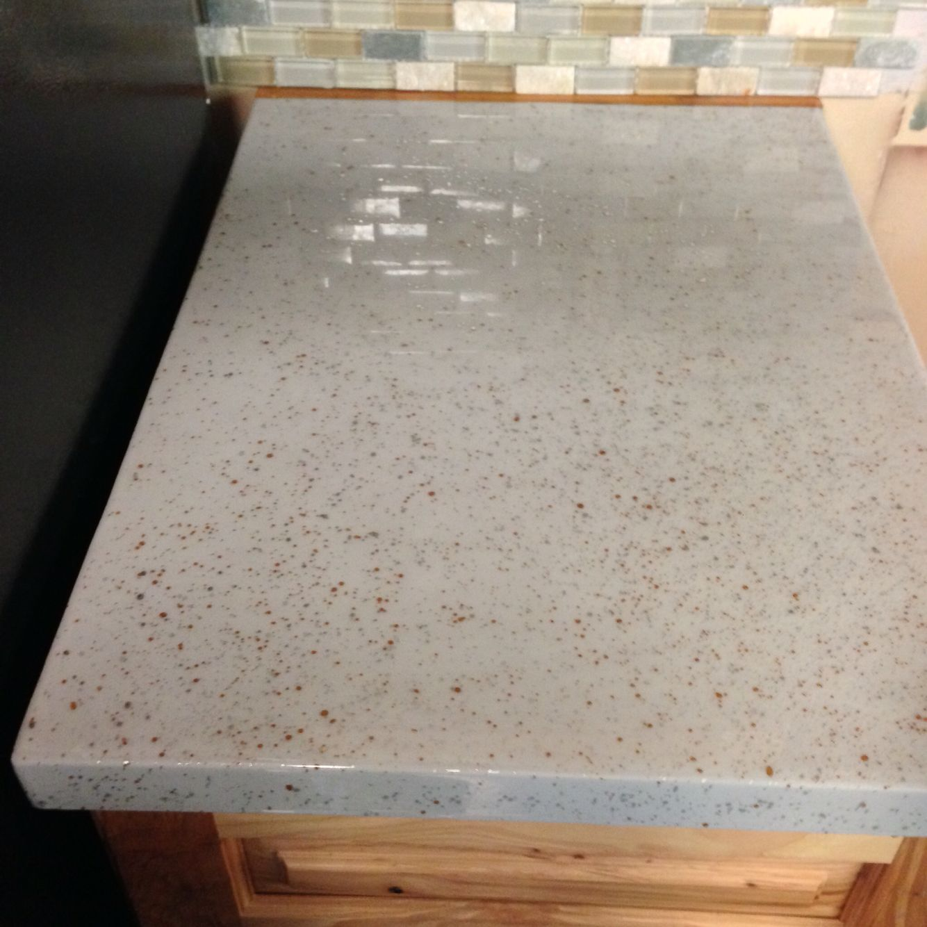 Epoxy Countertop With Gold And Silver Accents Epoxy Countertop