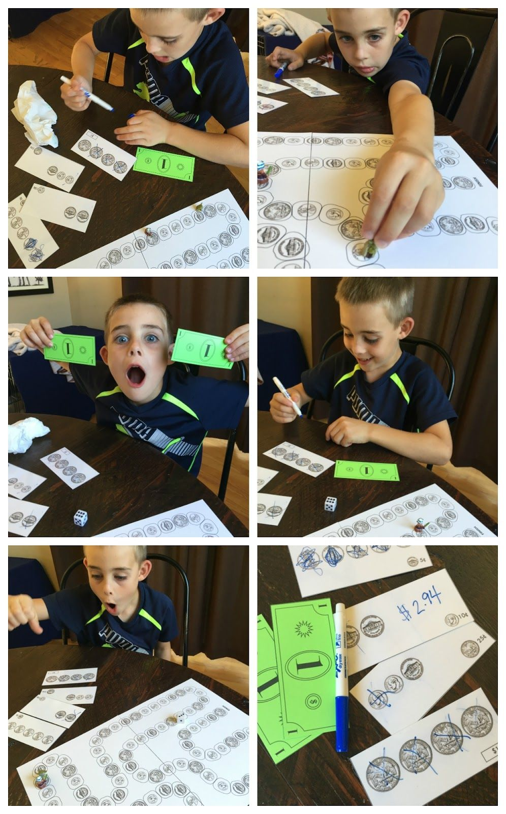 Change Exchange (free printable money game) (With images ...