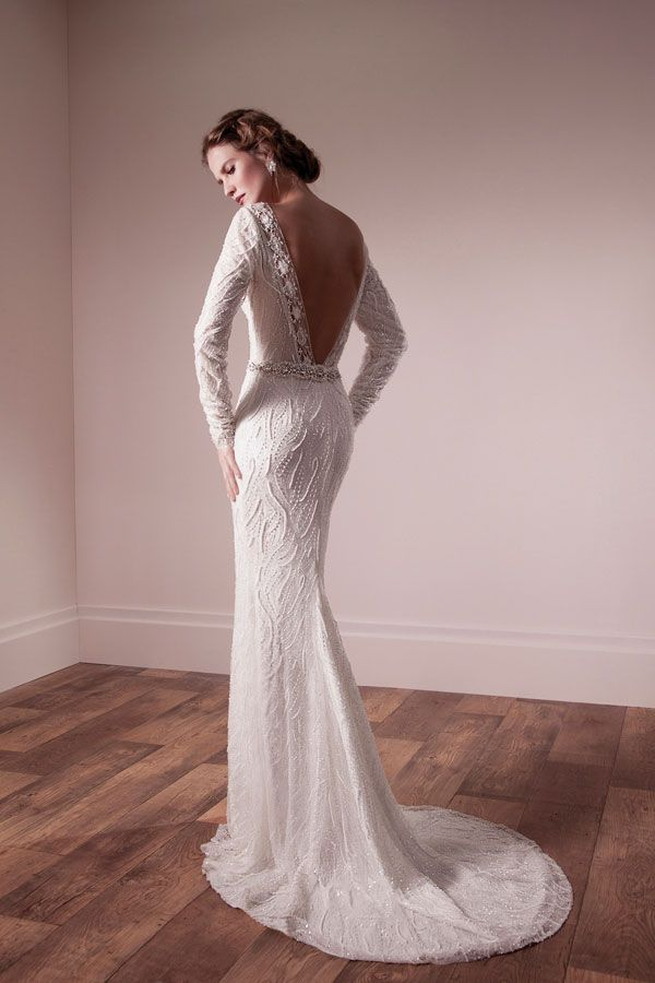 Backless Long Sleeves Wedding Dress  Love this look Backless Long Sleeves Wedding Dress  Love this look    Wedding  . Long Sleeve Backless Wedding Dresses. Home Design Ideas