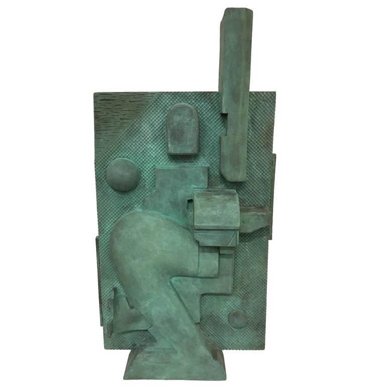 Bronze Cast Wall Sculpture by Artist Michael Walsh   From a unique collection of antique and modern sculptures at https://www.1stdibs.com/furniture/decorative-objects/sculptures/