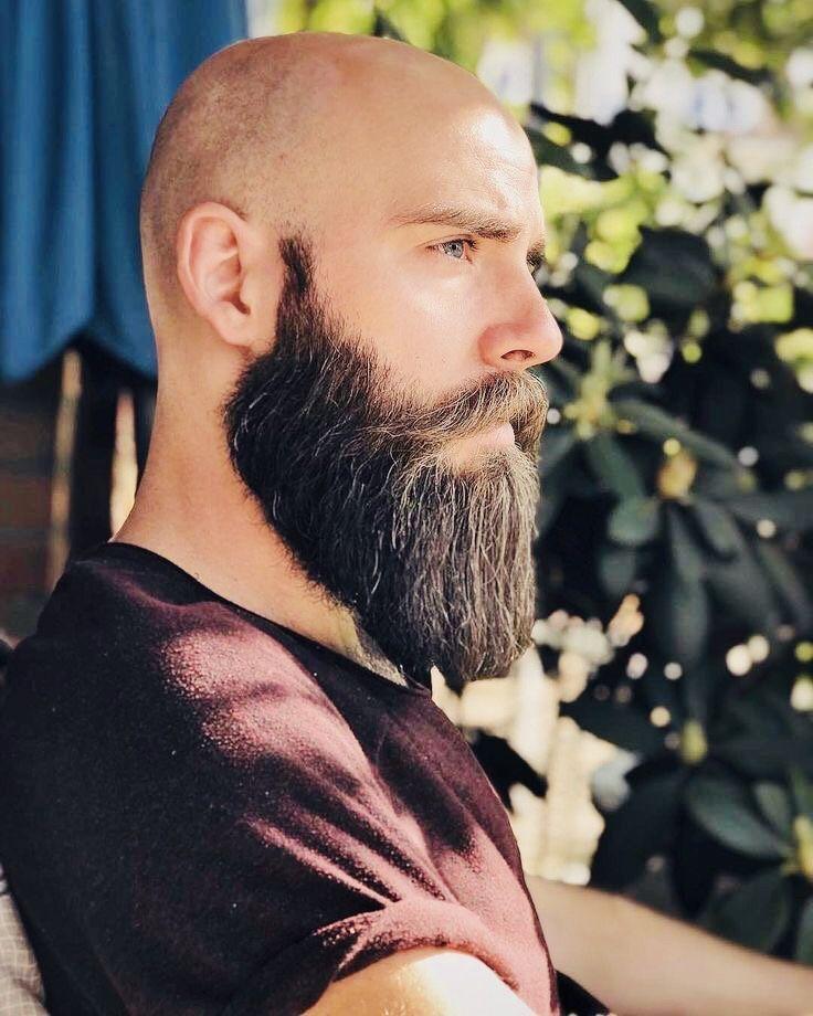 Bald Head Full Beard Bald Men With Beards Bald With Beard Shaved Head With Beard