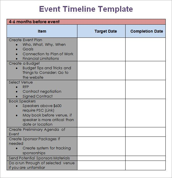 business plan timeline template Body Weight and Workout Pinterest - Event Plan Template