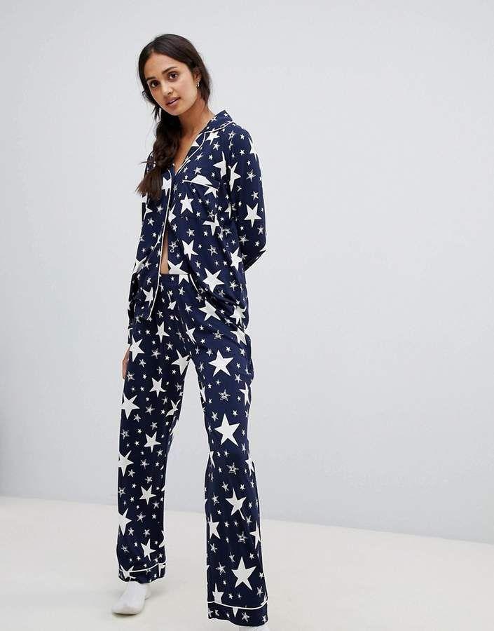 order online professional sale new images of Chelsea Peers sparkle star print pyjama set #   Pajama ...