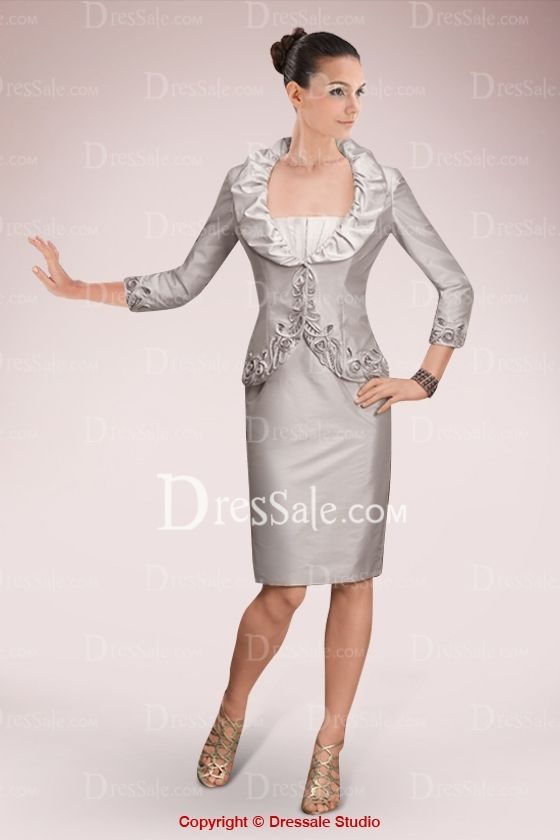 Love this one for you too, Diana. Long Sleevs Embroideried Cropped Jacket for Sheath Gown