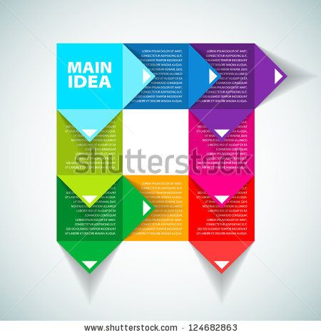Colorful Process chart module - Vector illustration - stock vector - process flow chart examples free