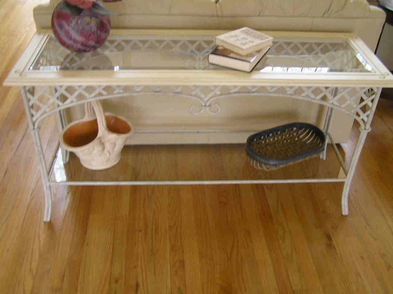 Statuette Of Wrought Iron Sofa Table That Will Fascinated You