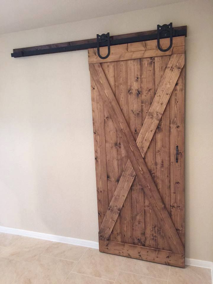 Sliding Barn Door This Customer Went With Knotty Pine Provincial Finish And Minwax Satin Poly We Were Only Respon Knotty Pine Doors Stained Doors Barn Door