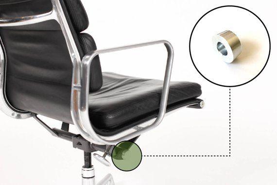 Eames Herman Miller Aluminum Group Chair Soft Pad Tilt End Cap Parts repair