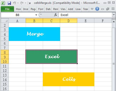 Excel cells merge is indispensable for handling Excel worksheet - merge spreadsheets